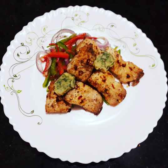 Photo of Grilled fish with coriander butter and belpepper salad by Papiya Nandi at BetterButter