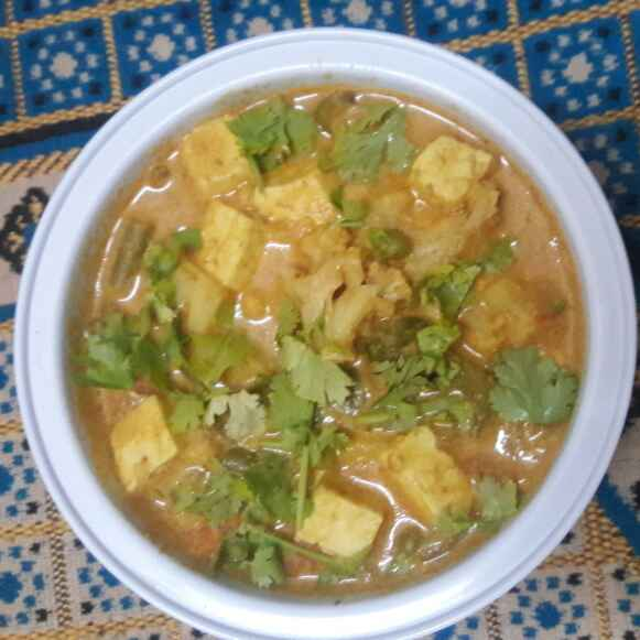 Photo of Mixed vegetables and panner gravy. by Paramasivam Sumathi at BetterButter