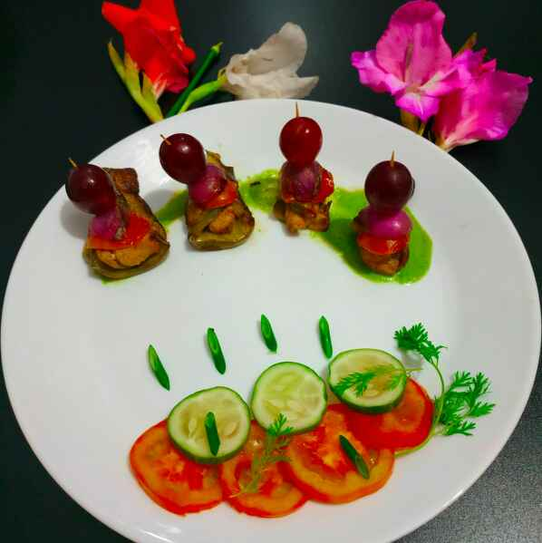 Photo of Chicken in brinjal kebab by paramita Dutta at BetterButter