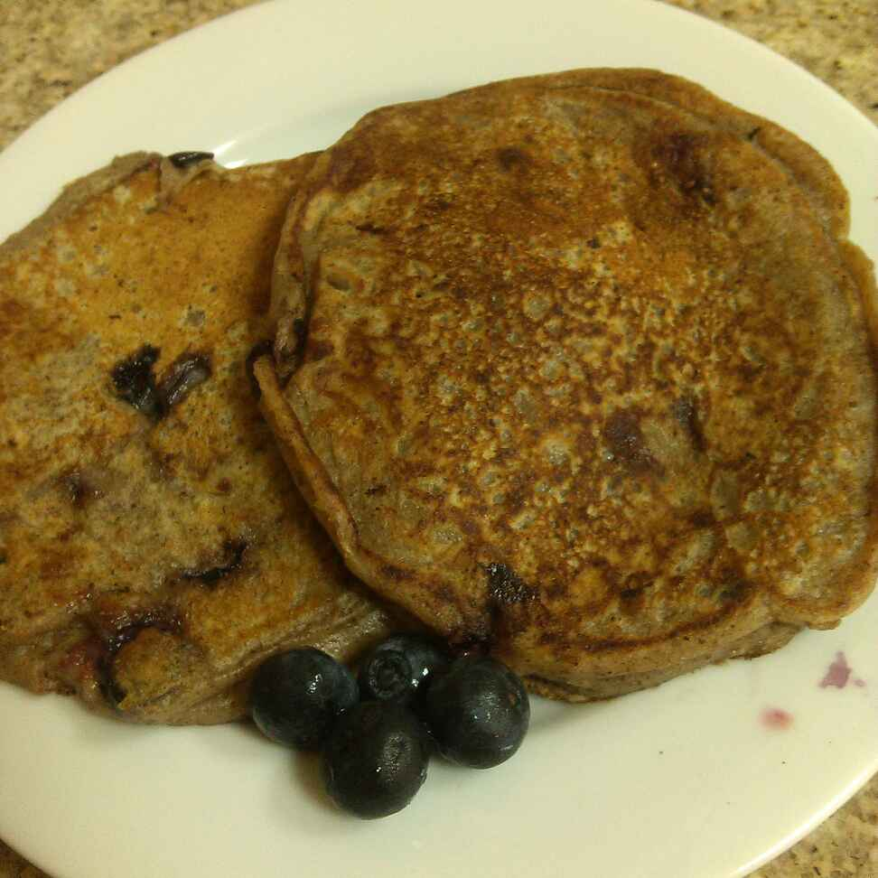 How to make Flaxseed and Blueberry Pancake