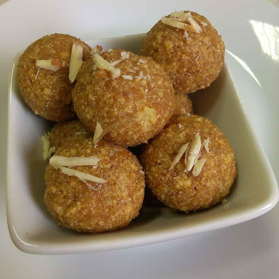 How to make Coconut , Mawa and Jaggery Laddu with homemade Mawa