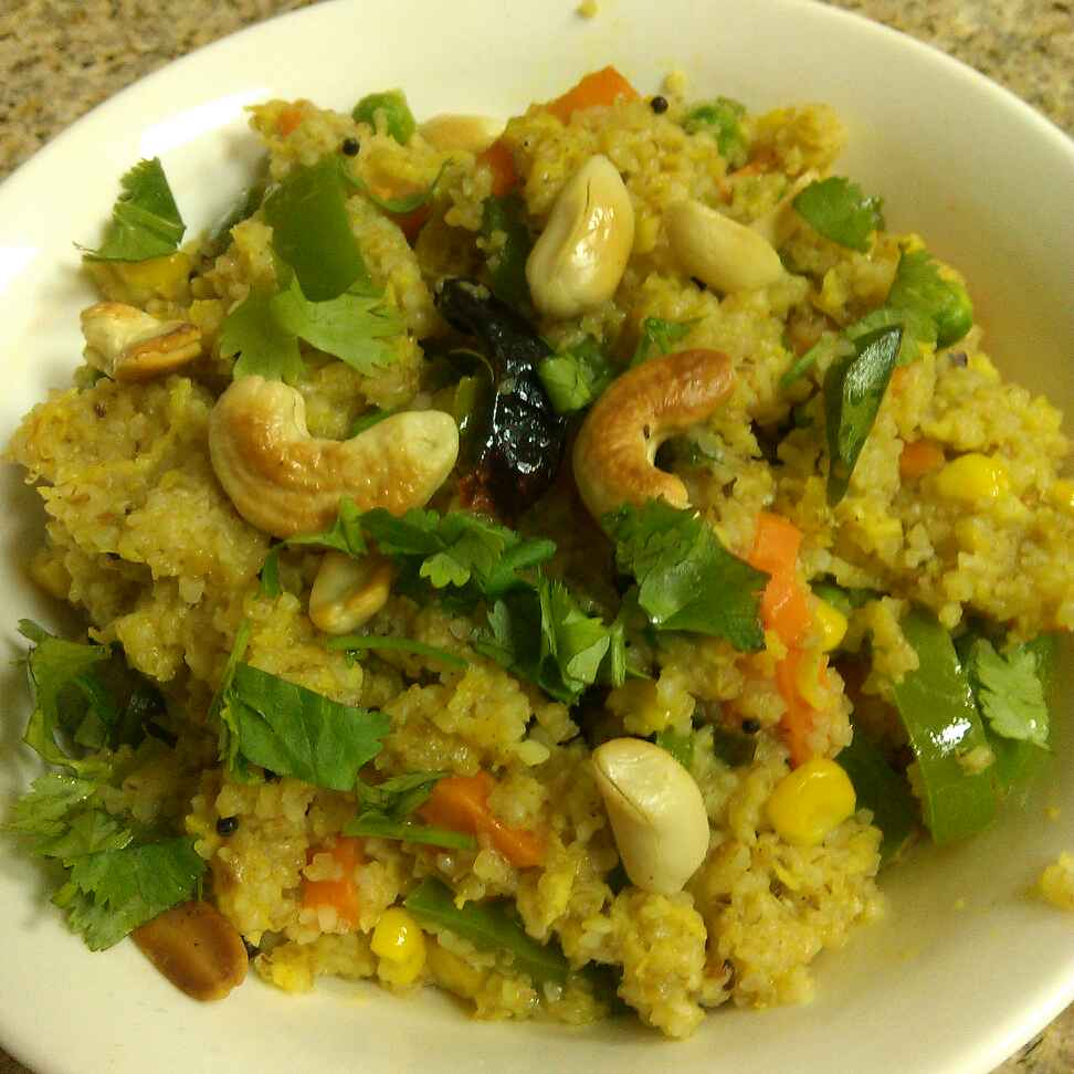 How to make Broken Wheat And Vegetables Upma