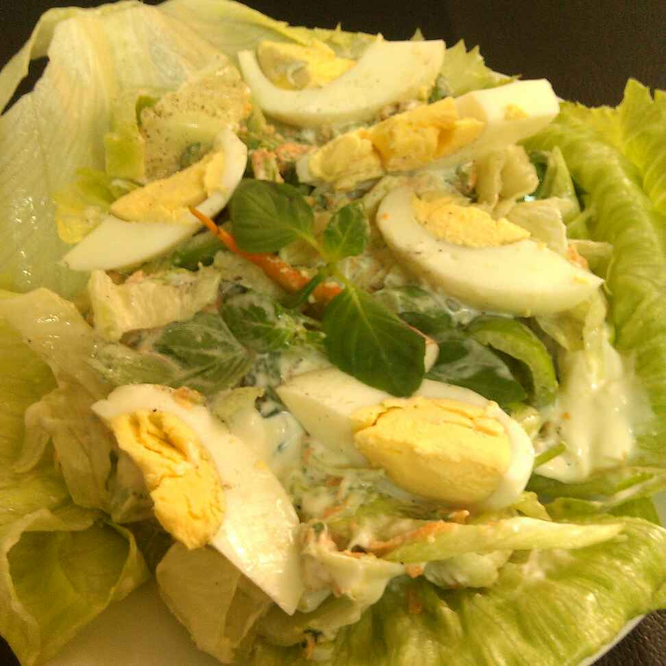 How to make Egg and vegetables mayo Salad
