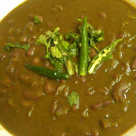 How to make Rajma Palak / Red kidney Beans with Spinach
