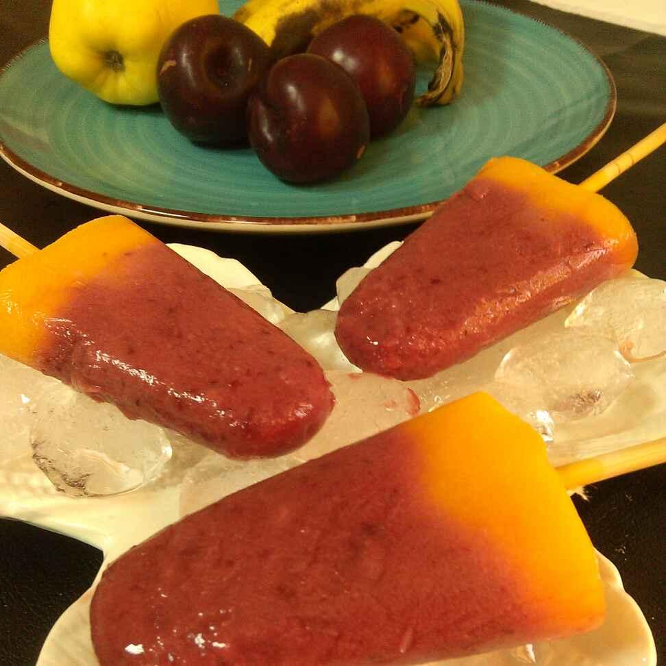 Photo of Plum Mango Popsicles by Paramita Majumder at BetterButter