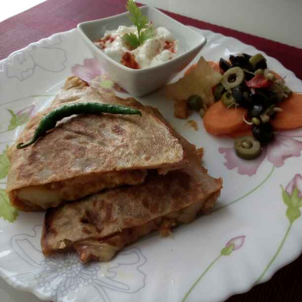 Photo of Leftover aalu gobhi paratha paket by Paramita Majumder at BetterButter