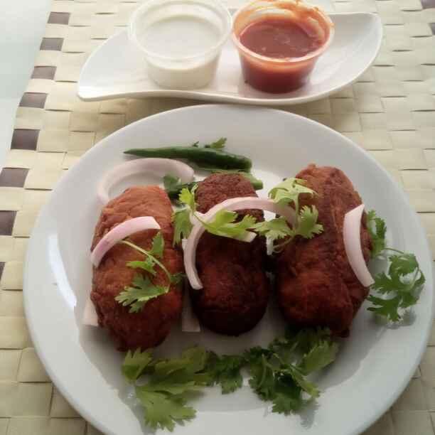 How to make कोलकाता स्ट्रीट स्टाइल प्रॉन कटलेटस / बंगाली स्टाइल झींगा कटलेट