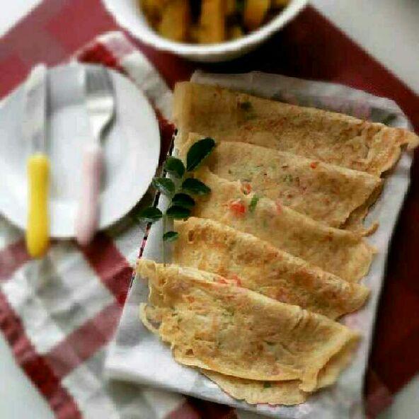 How to make Bengali style Savoury Pancake /Gola Ruti