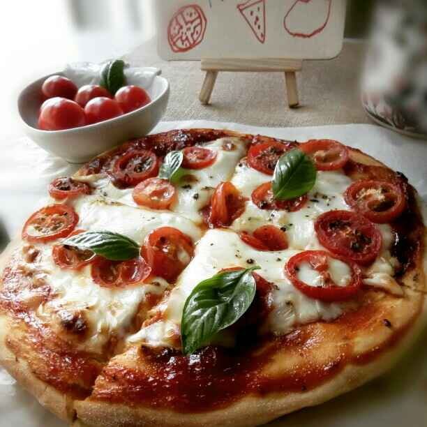 How to make Classic Thick Crust Margherita Pizza