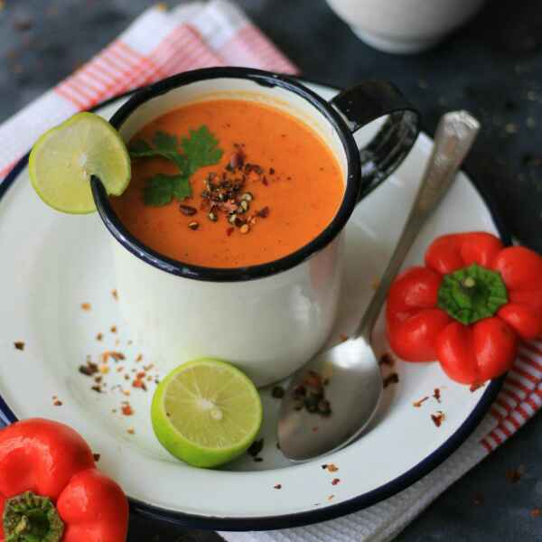 Photo of Roasted Bell Pepper Soup by Parinaaz Marolia at BetterButter