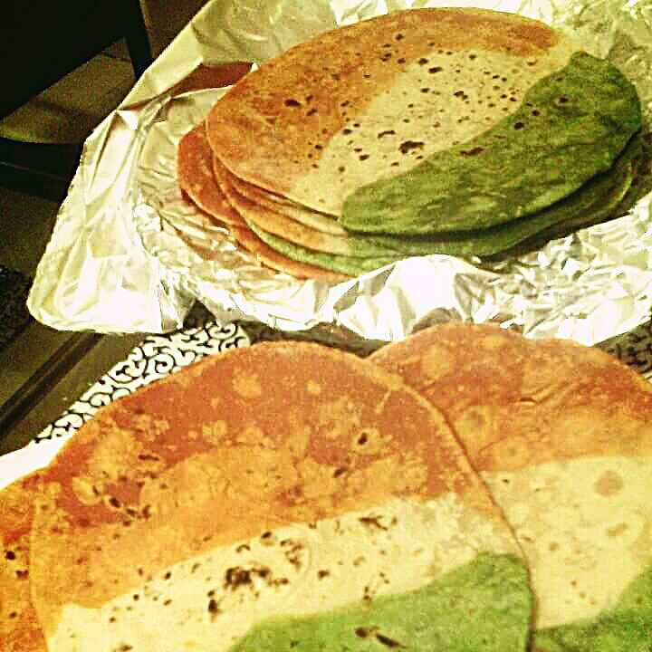 Photo of Tricolour Chapati by Paromita Nath at BetterButter