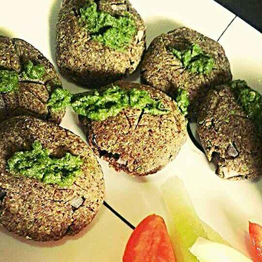 How to make Zero oil Sesame and Flax Seeds, Greenpeas Kebabs