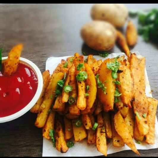 Photo of Baked potato wedges by Parul Bansal at BetterButter