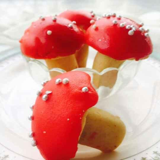 How to make Chocolate filled Mushroom cookies