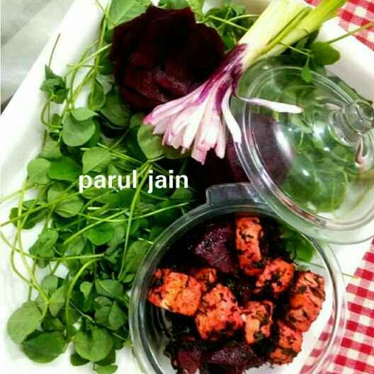 Photo of Methi tofu ( soya paneer ) aur chukandar ki subzi by Parul Jain at BetterButter