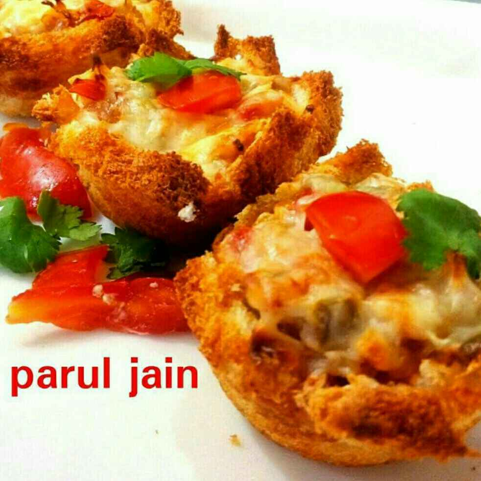 Photo of Bread pizza cup by Parul Jain at BetterButter