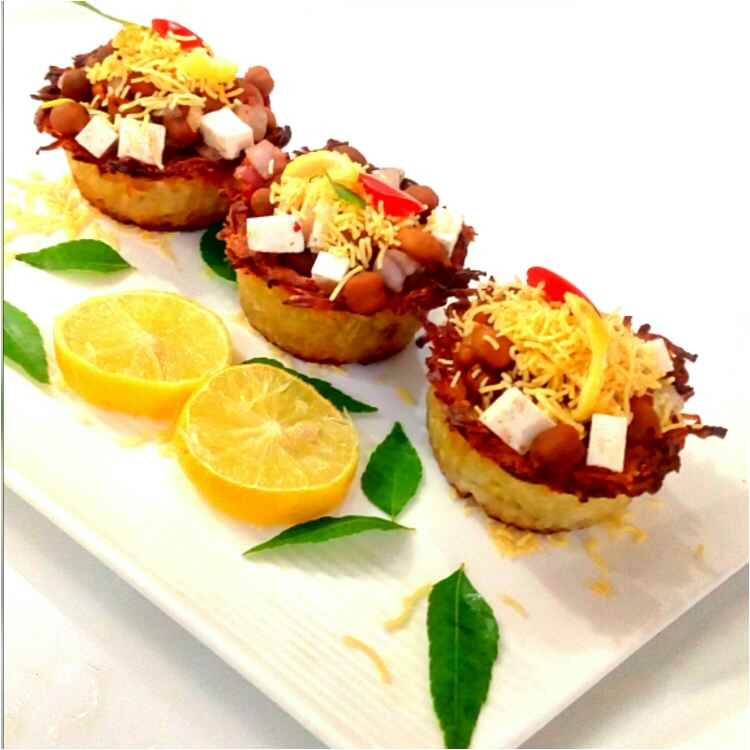 Photo of Baked potato basket chaat by Parul Jain at BetterButter