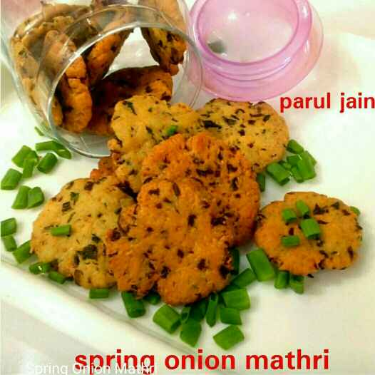 Photo of Spring onion mathri by Parul Jain at BetterButter