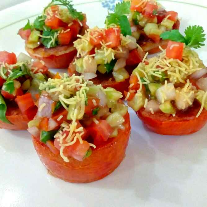 Photo of Indori Tomato Chaat by Parul Jain at BetterButter