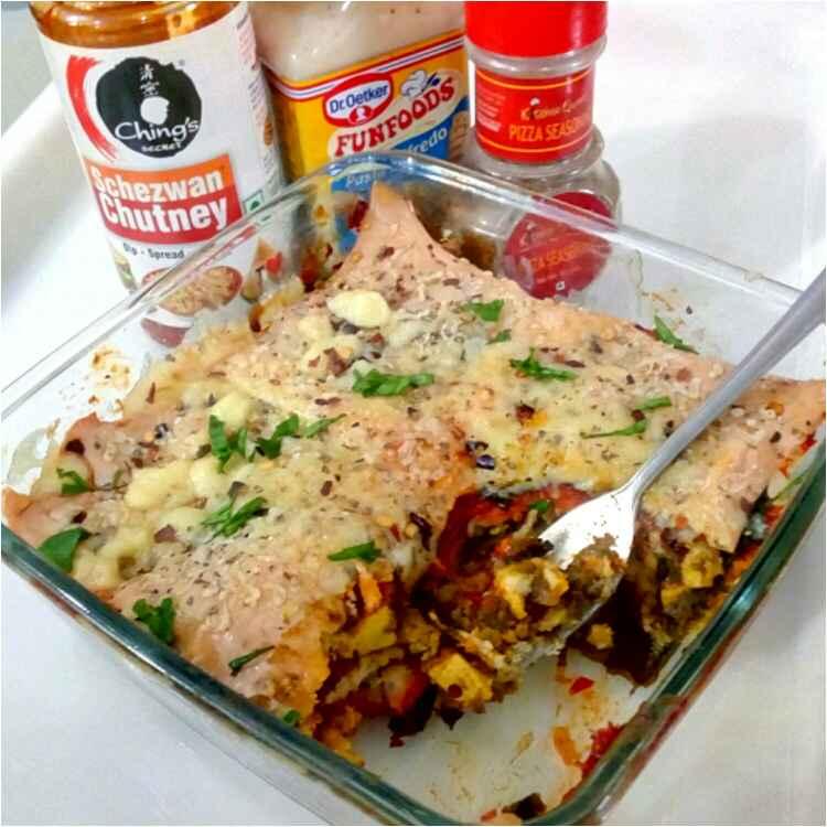 How to make Palak paneer bread roll lasagna