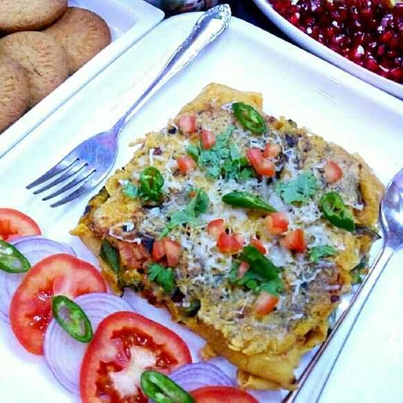 How to make Veg chilla omlet