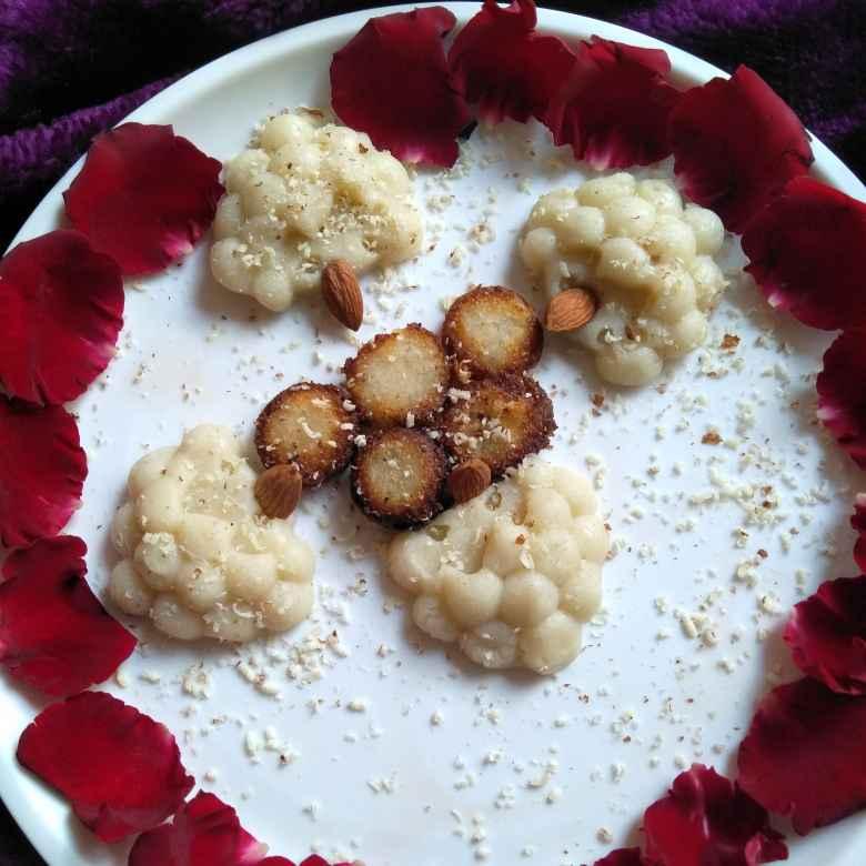 Photo of Ravva sweet dots nd suji ravva halwa by Pasumarthi Poojitha at BetterButter