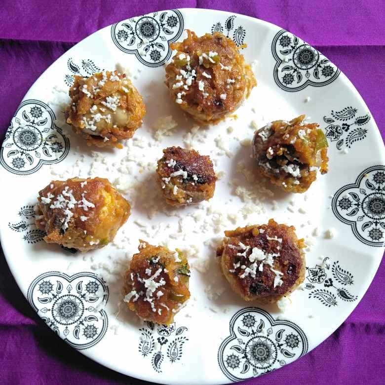 Photo of Stuffed mushrooms lollipops by Pasumarthi Poojitha at BetterButter