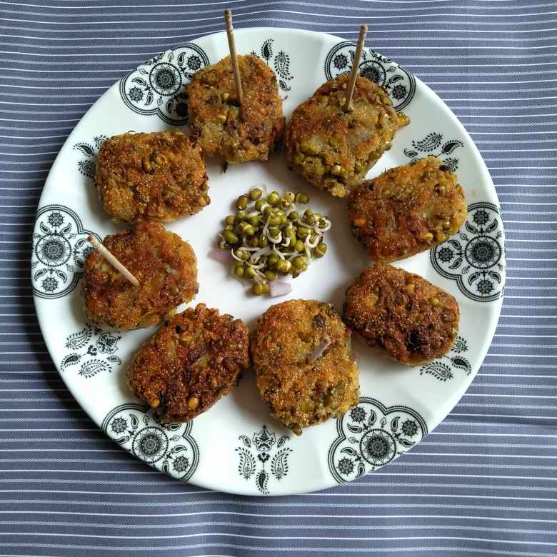 Photo of Sprouts cutlet by Pasumarthi Poojitha at BetterButter