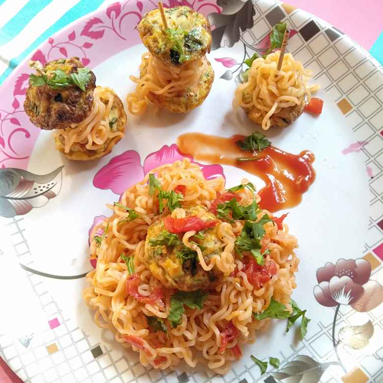 Photo of Vegetable egg bites and maggie noddles by Pasumarthi Poojitha at BetterButter