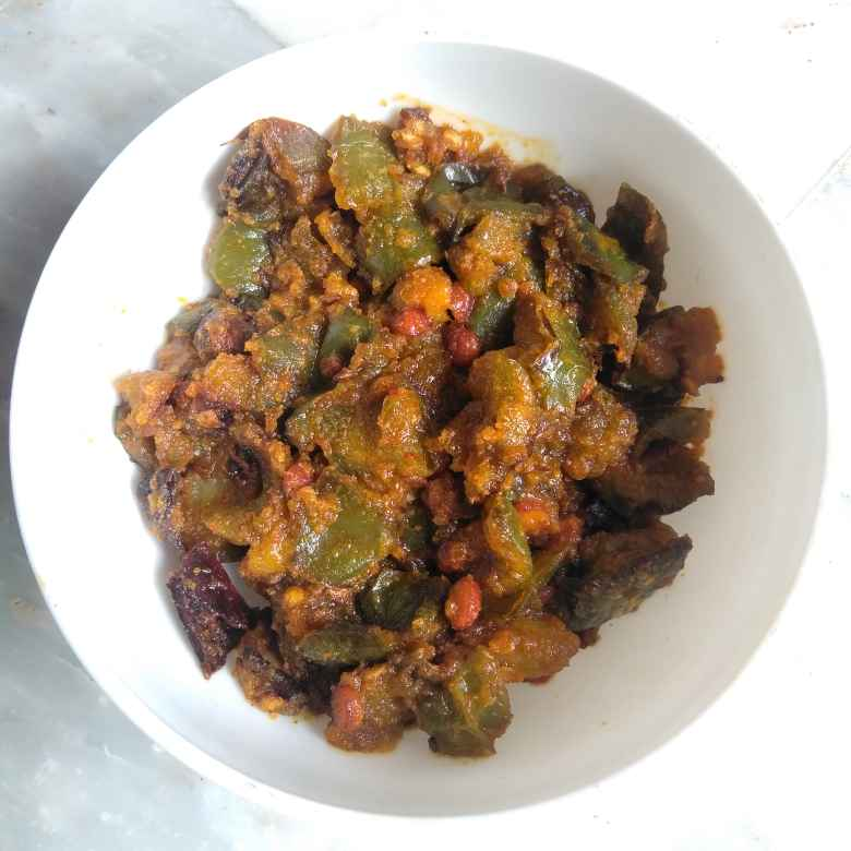 Photo of Capsicum gramflour curry by Pasumarthi Poojitha at BetterButter