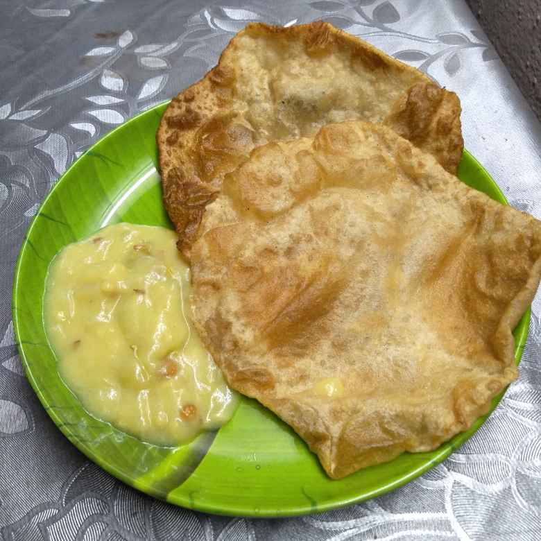 Photo of PURI with bombayi chutney by Pasumarthi Poojitha at BetterButter