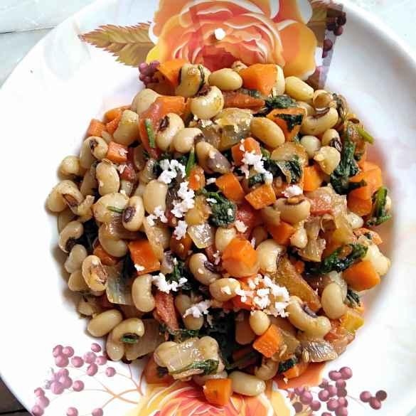 Photo of Black eyed beans Greek vegan chat by Pasumarthi Poojitha at BetterButter
