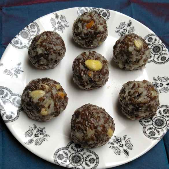 Photo of Flaxseed laddu by Pasumarthi Poojitha at BetterButter