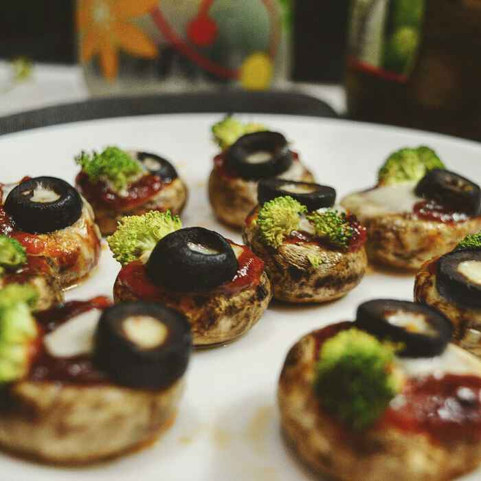 Photo of Stuffed pizza mushrooms by Pavana Bhat at BetterButter