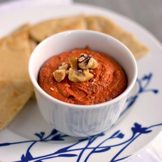 Photo of Muhammara (Red Capsicum Walnut Spread) by Pavani Nandula at BetterButter