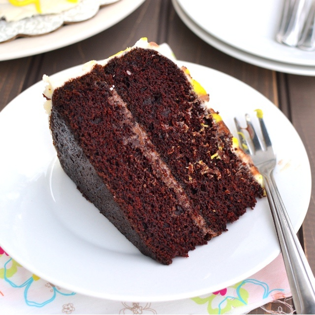 Photo of Eggless Chocolate-Orange Cake by Pavani Nandula at BetterButter