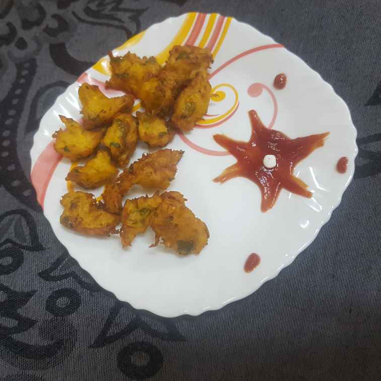 Photo of Red pumpkin pakoda by Pavithra Prasad at BetterButter
