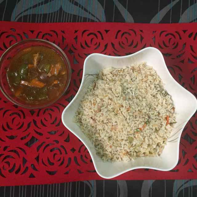 Photo of Chicken fried rice with chicken Manchurian by Pavithra Prasad at BetterButter