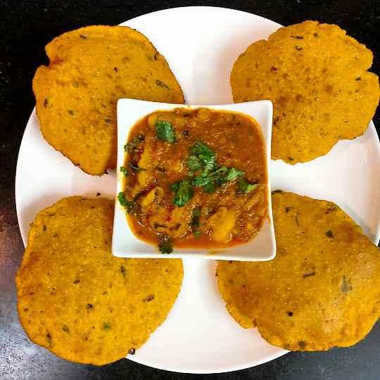 How to make Masala poori with lungar wali bhaji