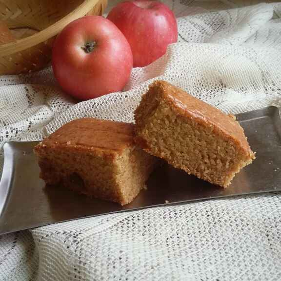 Photo of eggless whole wheat apple raisins cake by payal jain at BetterButter