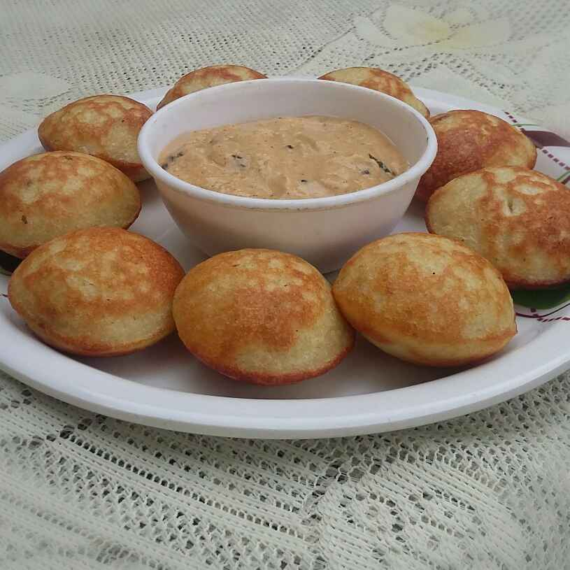 Photo of cheese chutney stuffed mix daal appe by payal jain at BetterButter
