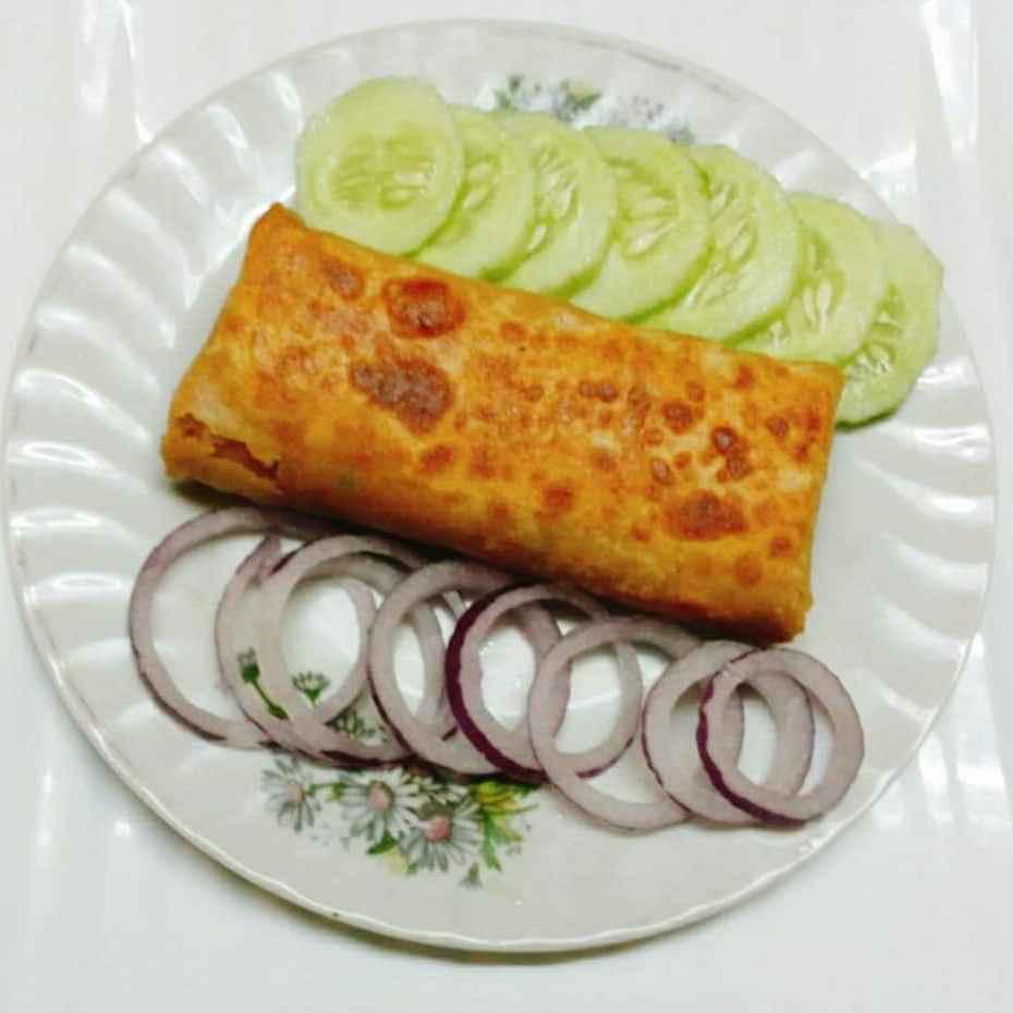 Photo of Chicken roti roll by Peeyaly Dutta at BetterButter