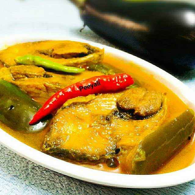 How to make বেগুন ইলিশ