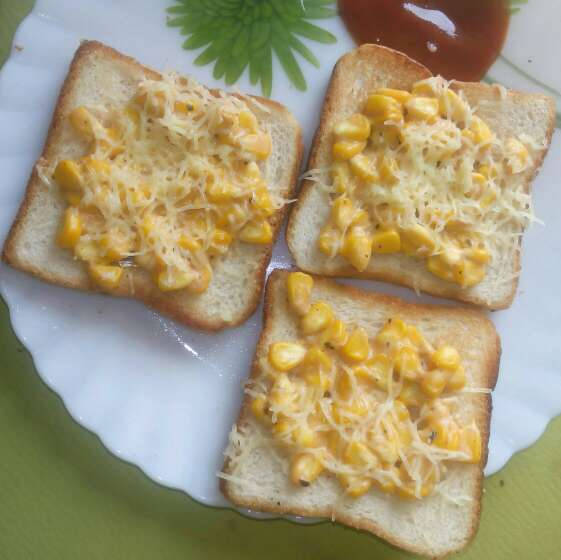 How to make Corn toast