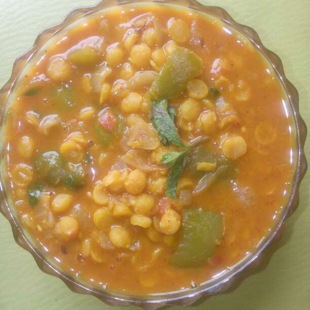 Photo of Capsicum chanadall  - With mint leaves by Pina Raval at BetterButter