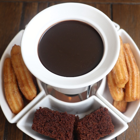 Photo of Mexican Churros with Chocolate Fondue by Pinkle Sachdev at BetterButter