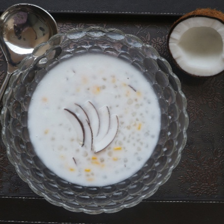 How to make Saago Kheer in Coconut Milk