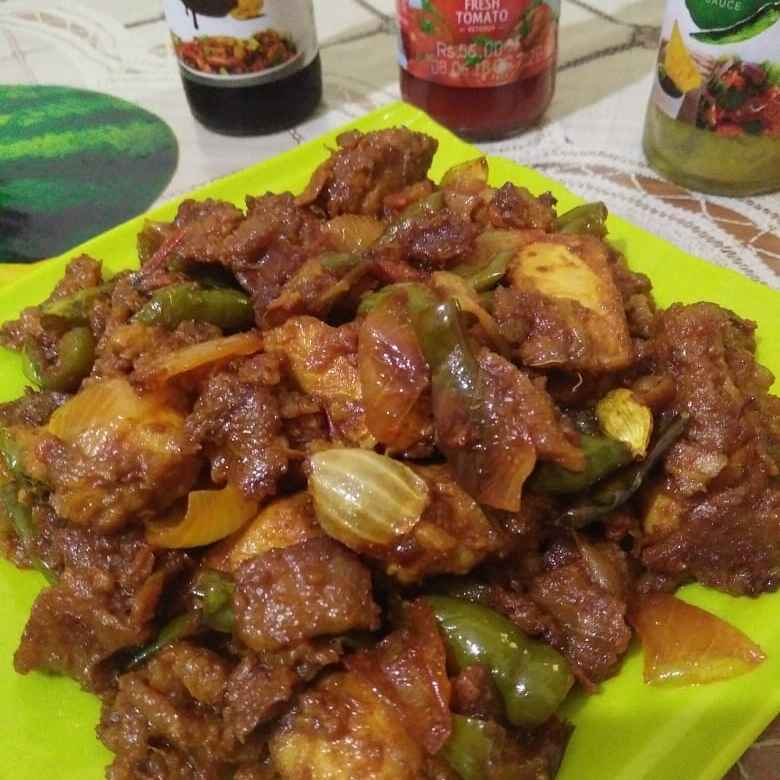 Photo of Dry chilli chiken by piu das at BetterButter