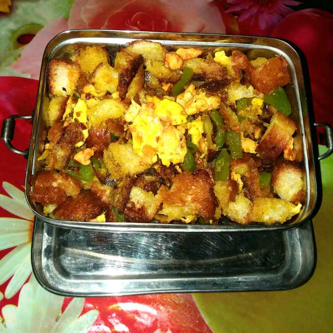 Photo of Bread Upma with egg by Piyasi Biswas Mondal at BetterButter