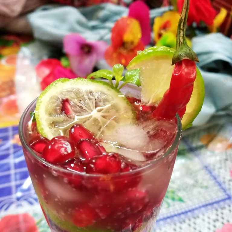 Photo of Pomegranate chilli drink by Piyasi Biswas Mondal at BetterButter